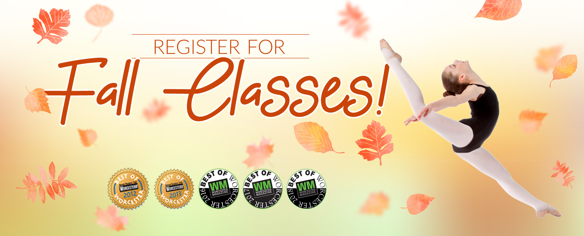 Register for fall classes at the Best of Worcester 5 times studio